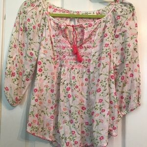 Abercrombie and Fitch Floral Peasant Blouse